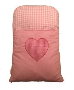 De roze babymat